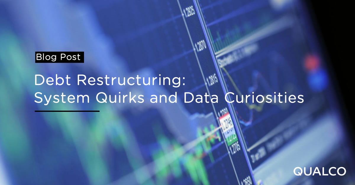 Debt Restructuring: System Quirks and Data Curiosities